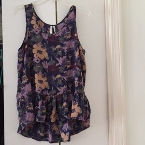Nordstrom sleeveless floral pattern blouse